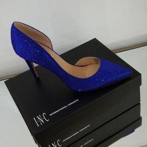 INC cobalt sparkle heels size 10 new